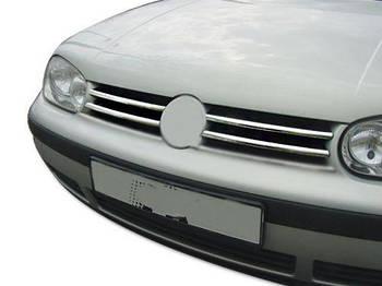 Volkswagen Golf 4 Накладки на решетку (4 шт, нерж)