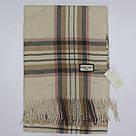 Кашемировый теплый шарф палантин  Cashmere 107040 Бежевый, фото 3