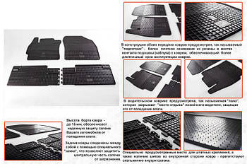 Toyota Auris 2007-2012 гг. Резиновые коврики (4 шт, Stingray Premium)