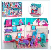Домик для кукол 1205АВ, фигурки, мебель, в коробке
