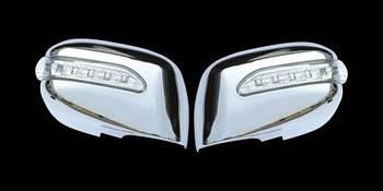 Nissan Tiida 2004-2011 гг. Накладки на зеркала LED (2 шт, пласт)