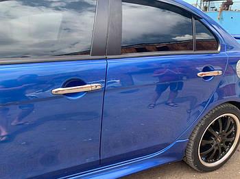 Mitsubishi Lancer X 2008↗ гг. Накладки на ручки (4 шт) Без чипа, Carmos - Турецкая сталь