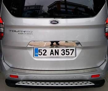Ford Courier 2014↗ гг. Планка над номером (нерж)