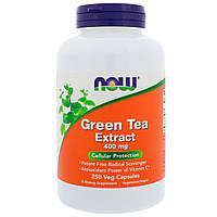 ОРИГИНАЛ!Экстракт зеленого чая, EGCg (Green Tea) 400 мг,Now Foods Жиросжигатель зеленого чая 250 капсул из США
