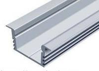 Профиль алюминиевый LED врезной ЛПВ12 12х16мм, анодированный, цвет - серебро. - ЛПВ12