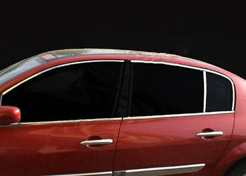 Renault Megane II 2004-2009 гг. Верхняя окантовка стекол (6 шт, нерж)