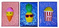 """Блокнот A5 508-4 """"Сквиш - Мороженное, попкорн, ананас торт"""", 80листов клетка"""