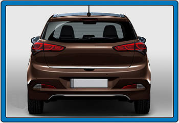 Hyundai I-20 2014-2018 гг. Кромка багажника (нерж.)