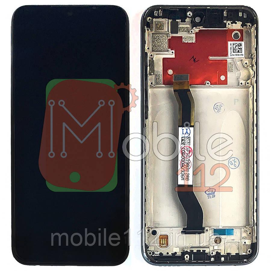 Экран (дисплей) Xiaomi Redmi Note 8T M1908C3XG + тачскрин черный с передней панелью