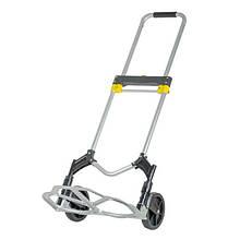 ✅ Двоколісний візок вантажна ручна складна побутова тачка (кравчучка) до 80 кг (алюмінієва),