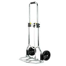✅ Двоколісний візок вантажна ручна складна побутова тачка (кравчучка) до 100 кг (алюмінієва),