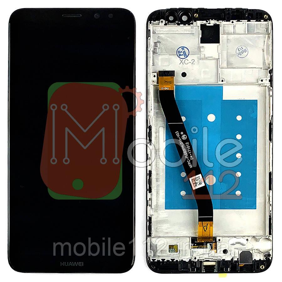 Экран (дисплей) Huawei Mate 10 Lite RNE-L01 RNE-L21 51091YGF + тачскрин черный с передней панелью