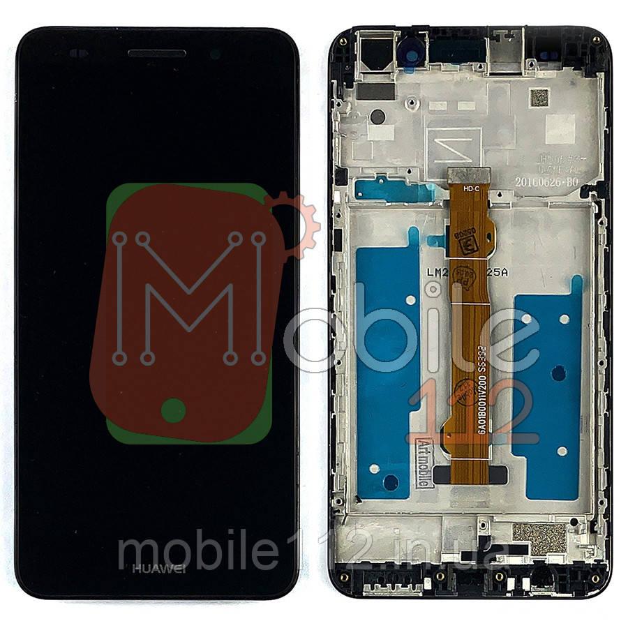 Экран (дисплей) Huawei Y6 II CAM-L21 CAM- AL00 Honor 5A + тачскрин черный с передней панелью