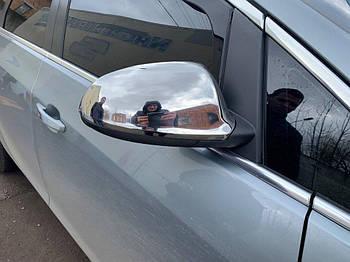 Opel Astra J 2010↗ гг. Накладки на зеркала (2 шт, нерж.)