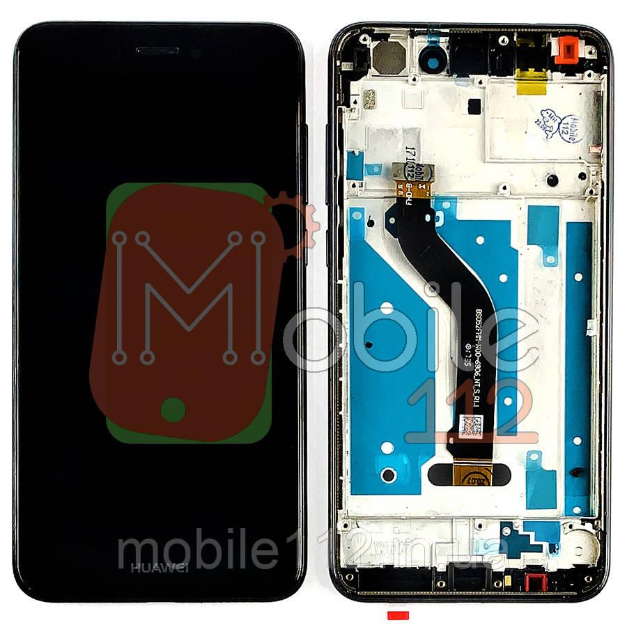 Экран (дисплей) Huawei P8 Lite 2017 PRA-LX1 LX2 LX3 LA1 TL10 TL20 AL00 AL00X TAG-L21 L32 + тачскрин черный с передней панелью