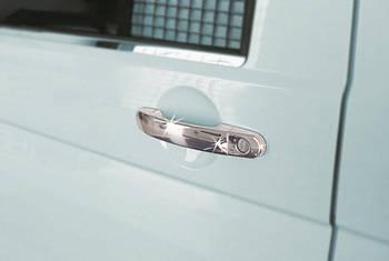 Volkswagen Caddy 2010-2015 гг. Накладки на ручки (нержавейка) 3 штуки. OmsaLine - Итальянская нержавейка