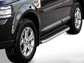 Range Rover Sport 2014↗ гг. Боковые пороги BlackLine (2 шт, алюминий)