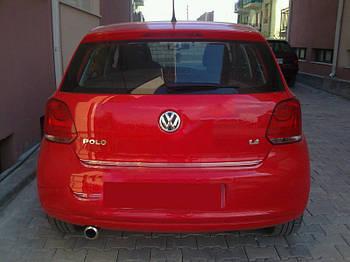 Volkswagen Polo 2009-2017 гг. Кромка багажника HB (нерж)