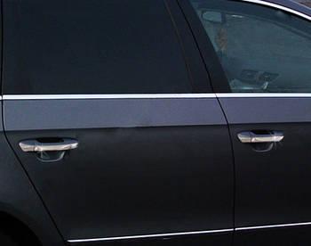 Volkswagen Polo 2009-2017 гг. Окантовка стекол HB (6 шт, нерж)