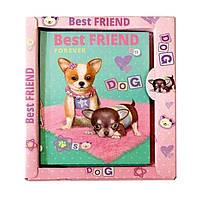 """Блокнот A6 №4023 """"Best Friend"""", з глитером в коробці"""