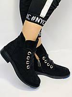 Женские осенние ботинки. на низком каблуке. Натуральная замша. Alvito. р. 36-40. Vellena, фото 7