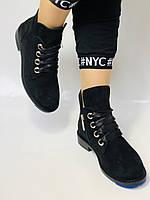 Женские осенние ботинки. на низком каблуке. Натуральная замша. Alvito. р. 36-40. Vellena, фото 5