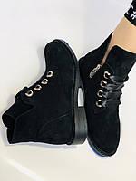 Женские осенние ботинки. на низком каблуке. Натуральная замша. Alvito. р. 36-40. Vellena, фото 8