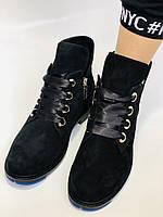 Женские осенние ботинки. на низком каблуке. Натуральная замша. Alvito. р. 36-40. Vellena, фото 6