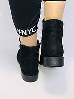 Женские осенние ботинки. на низком каблуке. Натуральная замша. Alvito. р. 36-40. Vellena, фото 10