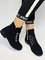 Женские осенние ботинки. на низком каблуке. Натуральная замша. Alvito. р. 36-40. Vellena, фото 2