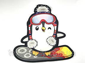 Нашивка Пингвин Сноубордист 210х230 мм