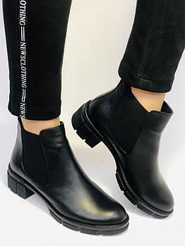 Турецкие  женские осенние ботинки Челси. На низкой подошве. Натуральная кожа. Stella Morzettу. Р 36 38.39 40