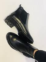 Турецькі жіночі осінні черевики Челсі. На низькій підошві. Натуральна шкіра. Stella Morzettу. Р 36 38.39 40, фото 8
