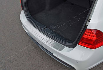 BMW 3 серия E-90/91/92/93 2005-2011 гг. Накладка на задний бампер (SW, нерж.)