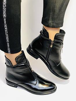 Polann. Женские осенне-весенние ботинки на низком каблуке. Натуральная кожа. Р. 36.38.
