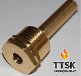 Погружная медная гильза для датчика температуры 1/2, 15х16мм, фото 4