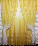 """Омбре"", ткань батист, под лён. На карниз 2-3м.  Цвет жёлтый с белым 031дк 649т, фото 2"