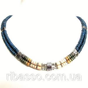 Колье, браслет, серьги - керамика спектр