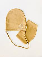 Дитяча шапка слюнявчик бавовна