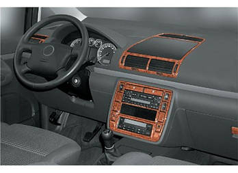 Volkswagen Sharan 1995-2010 гг. Накладки на панель Дерево