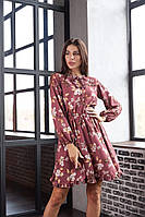 Женское цветочное платье с пышной юбкой, фото 1