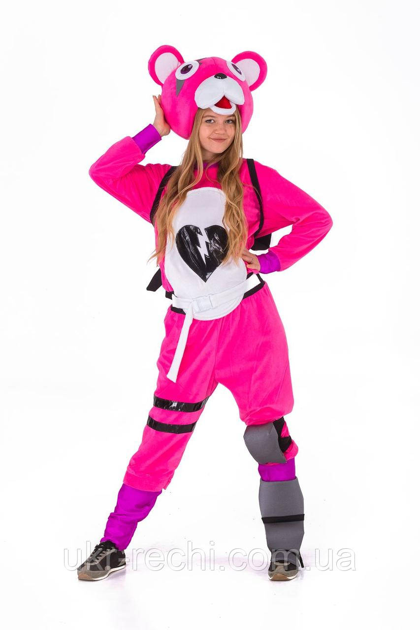 Розовый мишка «Fortnite» карнавальный костюм для взрослых