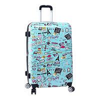 Качественный дорожный чемодан Madisson 86820G Бирюзовый