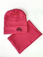 Дитяча шапка з хомутом хб рубчик 50-52-54 розмір