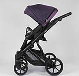 Детская коляска 2 в 1 Expander DEXO D-42303 цвет Plum,водоотталкивающая ткань и эко-кожа, фото 2