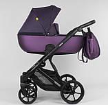 Детская коляска 2 в 1 Expander DEXO D-42303 цвет Plum,водоотталкивающая ткань и эко-кожа, фото 3