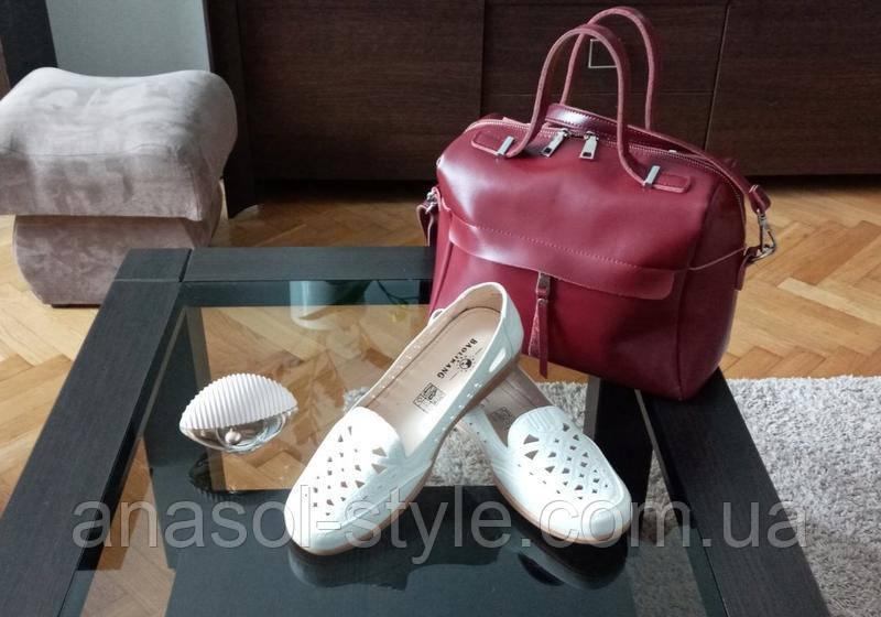 Туфли женские  Baolikang большого размера белые