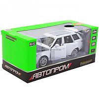 Машинка ігрова автопром «Range Rover» джип, метал, 15 см, білий (світло, звук, двері відкриваються) 7639, фото 2
