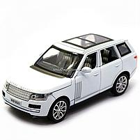 Машинка ігрова автопром «Range Rover» джип, метал, 15 см, білий (світло, звук, двері відкриваються) 7639, фото 4