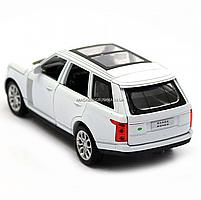 Машинка ігрова автопром «Range Rover» джип, метал, 15 см, білий (світло, звук, двері відкриваються) 7639, фото 5